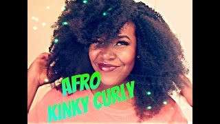 Afro Kinky Curly Wig Part 2