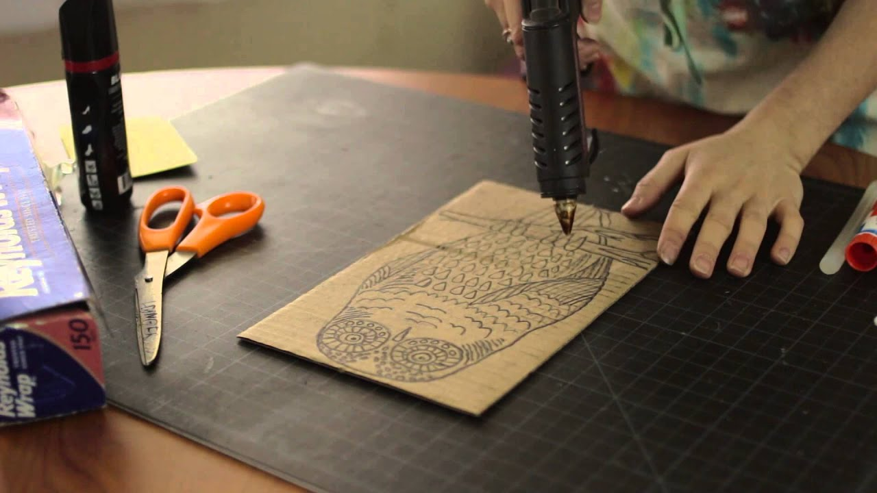 Arts and crafts prints - How To Make Antique Prints Crafts With Shoe Polish Arts Craft Tips