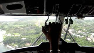 DHC-6 Twin Otter Landing in Mustique, St. Vincent and the Grenadines