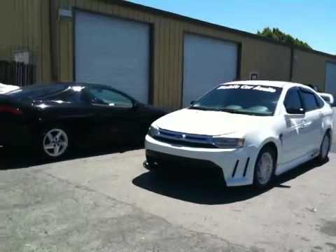 2000-2010 ford focus svt,rs,st,usa,custom body kit ,lambo doors, - YouTube