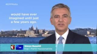 Simon Busuttil's welcome message for the EPP Malta Congress
