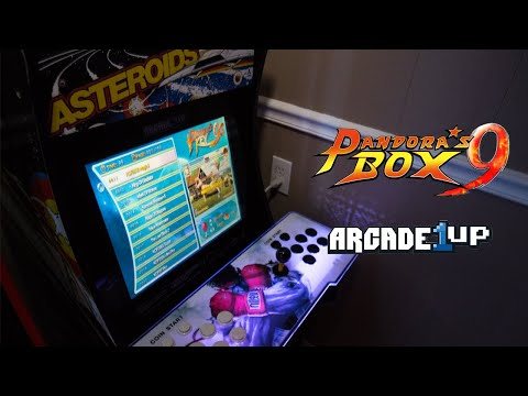 Custom Arcade1up with Pandoras box 9 from optical20