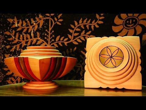"""Tokar Art 24 Woodturning """"Forever Together"""" Twins Bowls"""