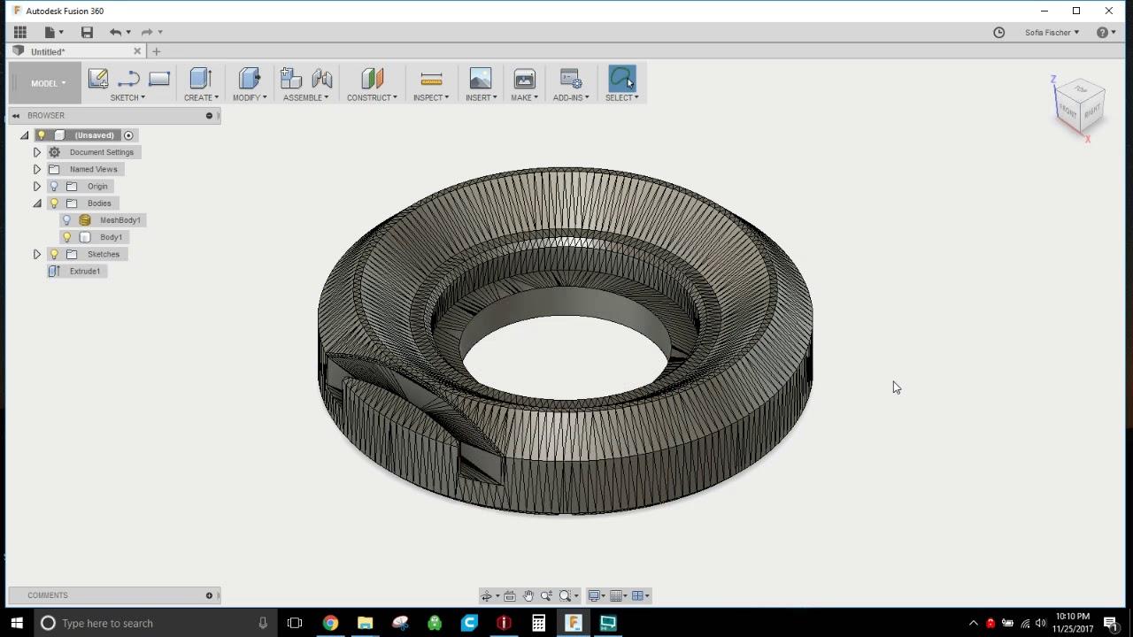 Quick tutorial - modifying STL files in Fusion 360