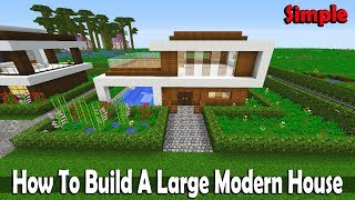 Minecraft How To Build A Large Modern House,Tutorial