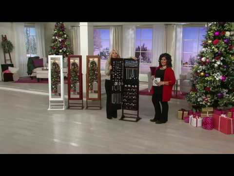 Gold & Silver Safekeeper Jewelry Armoire by Lori Greiner on QVC