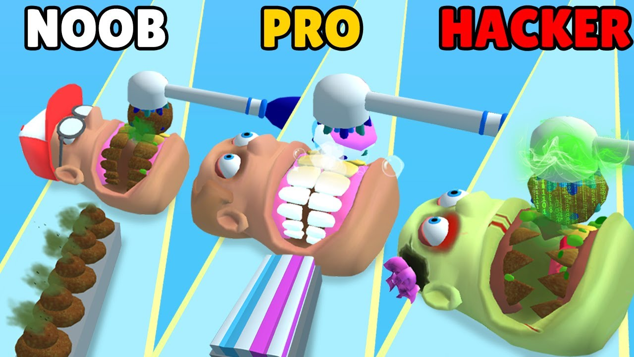 NOOB vs PRO vs HACKER in Teeth Runner!