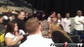 Mauro Ranallo raps about Ronda Rousey as she gets mobbed at Strikeforce Event