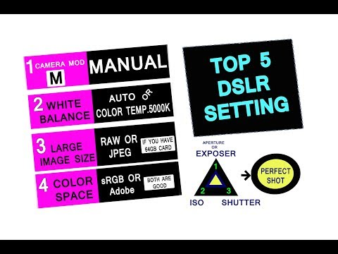 Repeat 5 TOP DSLR CAMERA SETTING,NikonD7200 SE KESE LE TASWEER