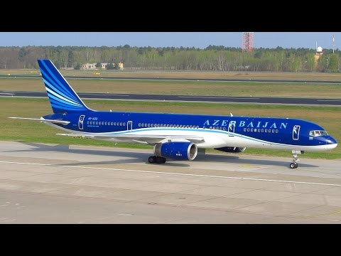 RARE! Azerbaijan Airlines Boeing 757-200 [4K-AZ12] Landing and Taxi at Berlin Tegel Airport!