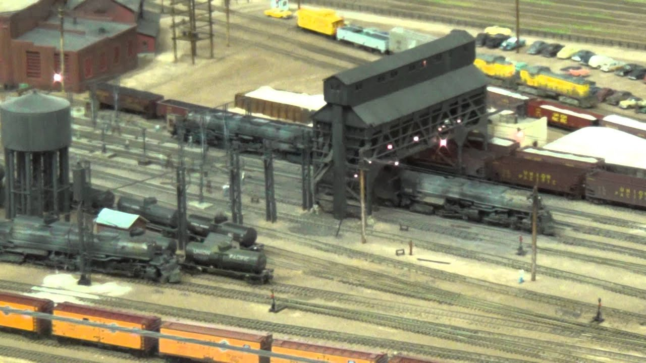 N Scale Model Of Up Roundhouse In Cheyenne 1959 Youtube