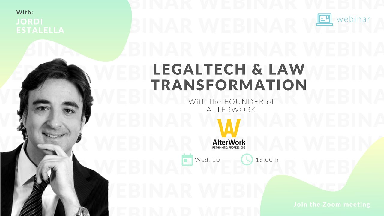 Webinar legaltech and law transformation