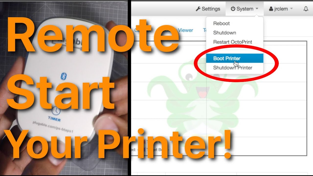 Turn on your 3D printer from anywhere!