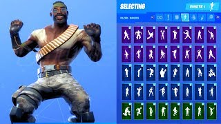 BANDOLIER SKIN SHOWCASE MIT ALLEN FORTNITE DANCES & EMOTES