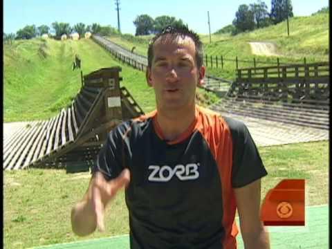 Dave goes 'Zorbing'