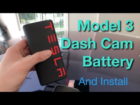 Tesla Model 3 Dash Camera Battery Update