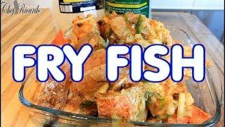 FRY FISH SUNDAY DINNER RECIPE HOWTO SEASONING IT !!