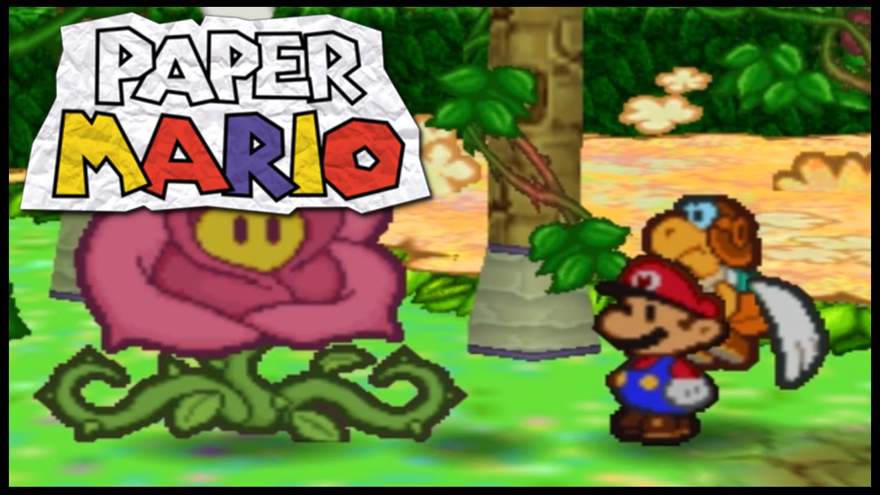 Lets play paper mario n64 part 28 flower fields youtube mightylinksfo