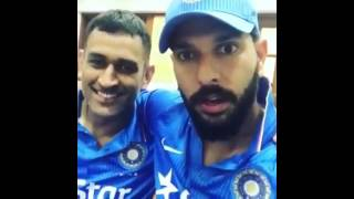 MS Dhoni  !!and Yuvraj Singh !! After Dhoni's Last Match As A  Captain