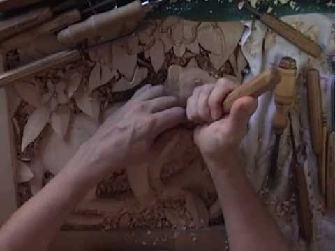 Deep Relief Wood Carving Demo - jungle cat, by Scott McNeill