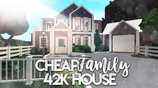 Roblox | Bloxburg: Cheap Family House | House Build