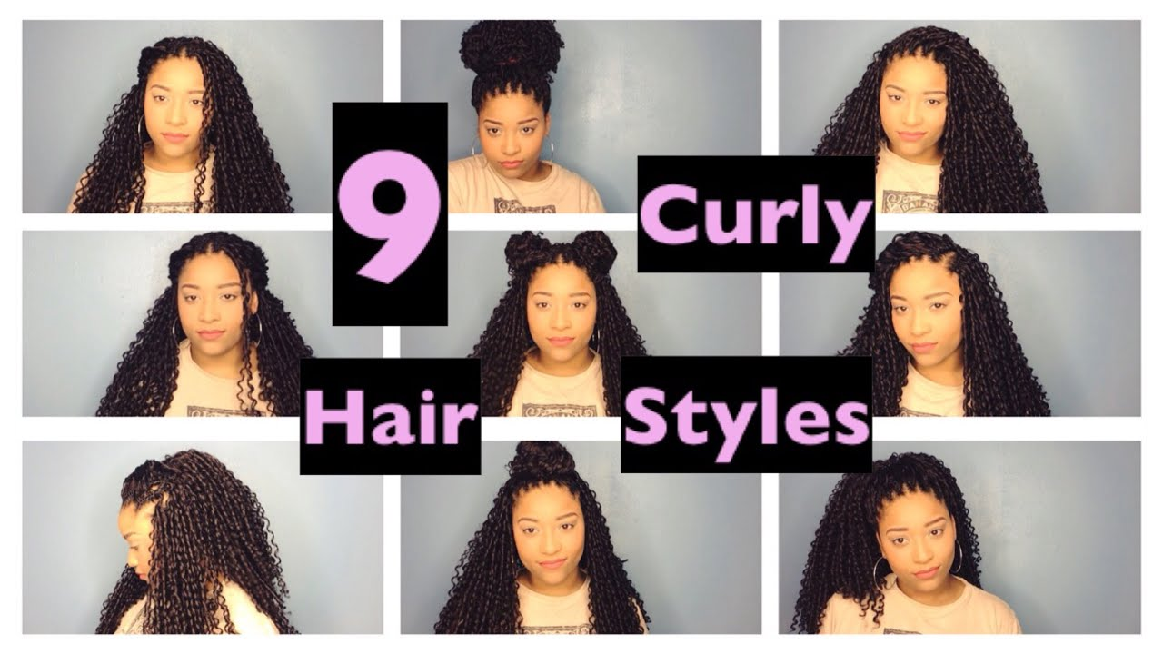Easy Hairstyles For Long Curly Hair Crochet Braid Edition - YouTube