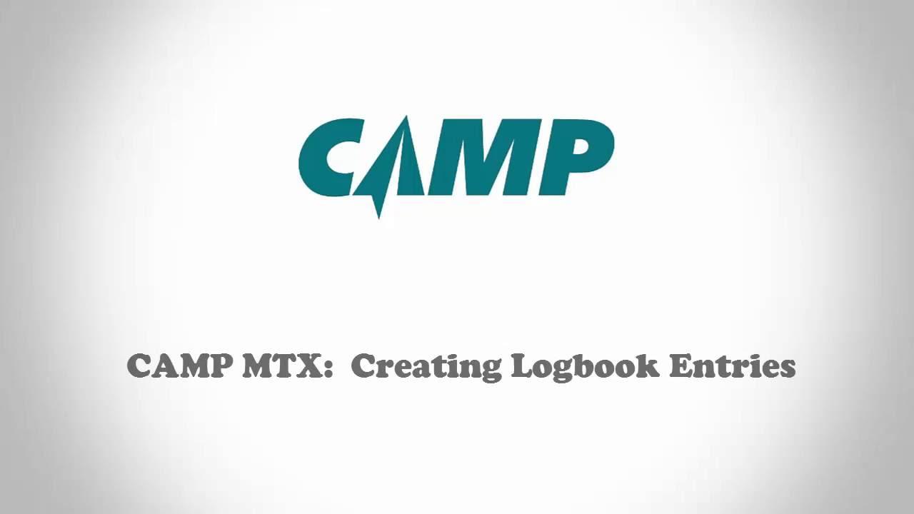 CAMP MTX: Creating Logbook Entries