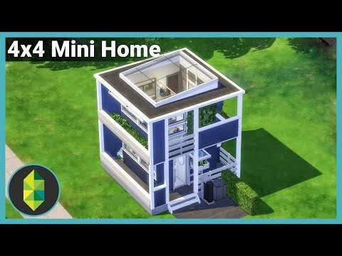 4x4 Mini Home, Two Levels - The Sims 4 House Building