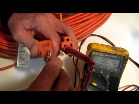 Using A Multimeter To Check An Extention Cord Youtube