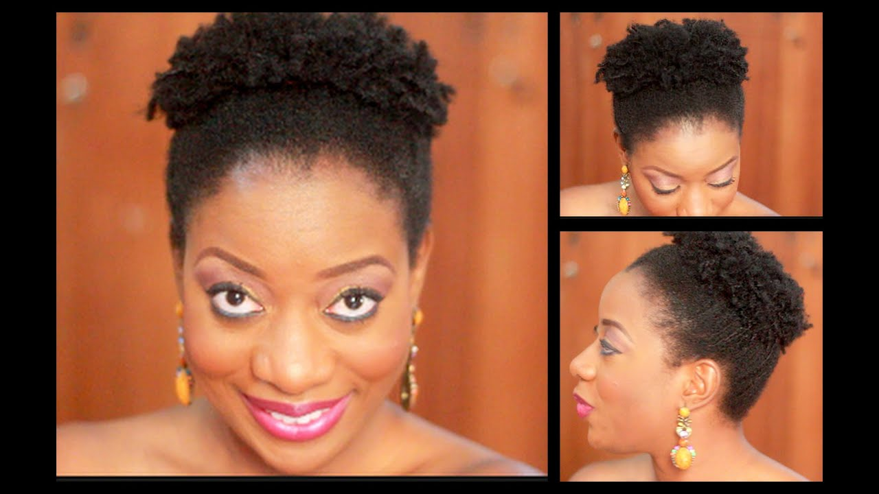 styling 4c natural hair: the pinapple fro !!! - youtube