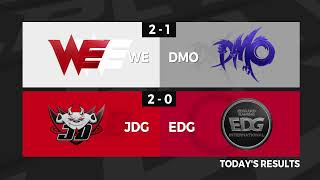 WE vs. DMO | JDG vs. EDG - Week 6 Day 1 | LPL Summer Split (2020) Bak