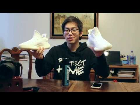 Cream White / Triple White Yeezy with Reshoevn8r Sneaker Laundry System Review