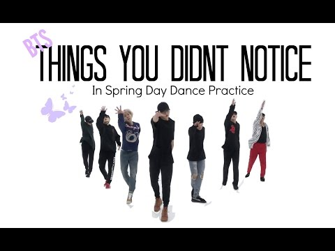 Thumbnail: BTS ~ Things You Didn't Notice In Spring Day Dance Practice