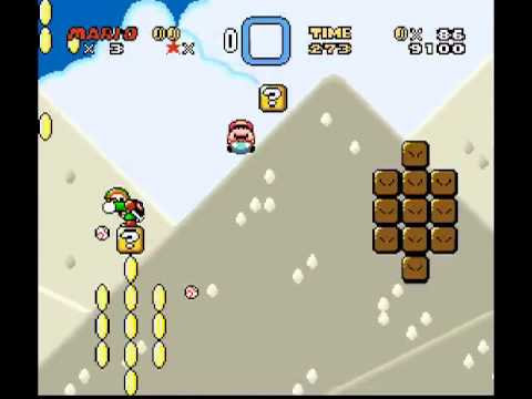 Passando da fase Tubular - Super Mario World Travel Video