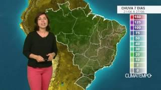 Veja o acumulado de chuva para os próximos dias no Brasil