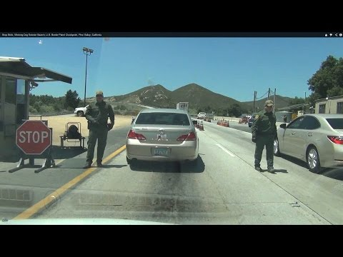 Pine Valley, California Interior US Border Patrol Checkpoint Immigration Inspection Station