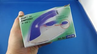✅ 3$ Mini Traveling Iron from AliExpress Unboxing haul euro app