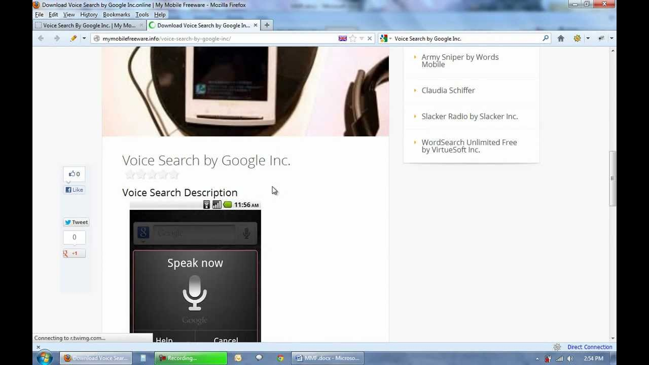 Download Voice Search by Google Inc FREE for Android Step by Step  Instruction!