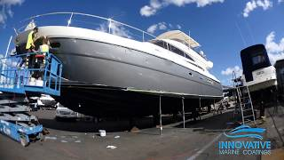 Vinyl Hull Wrap | Princess Motor Yacht | White Bay 6 Sydney | 1080 G251 Gloss Sterling Silver