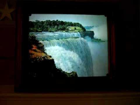 Moving Waterfall Picture in Frame - YouTube
