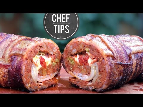Smoked Fatty Recipe - Bacon Wrapped Meatloaf Recipe