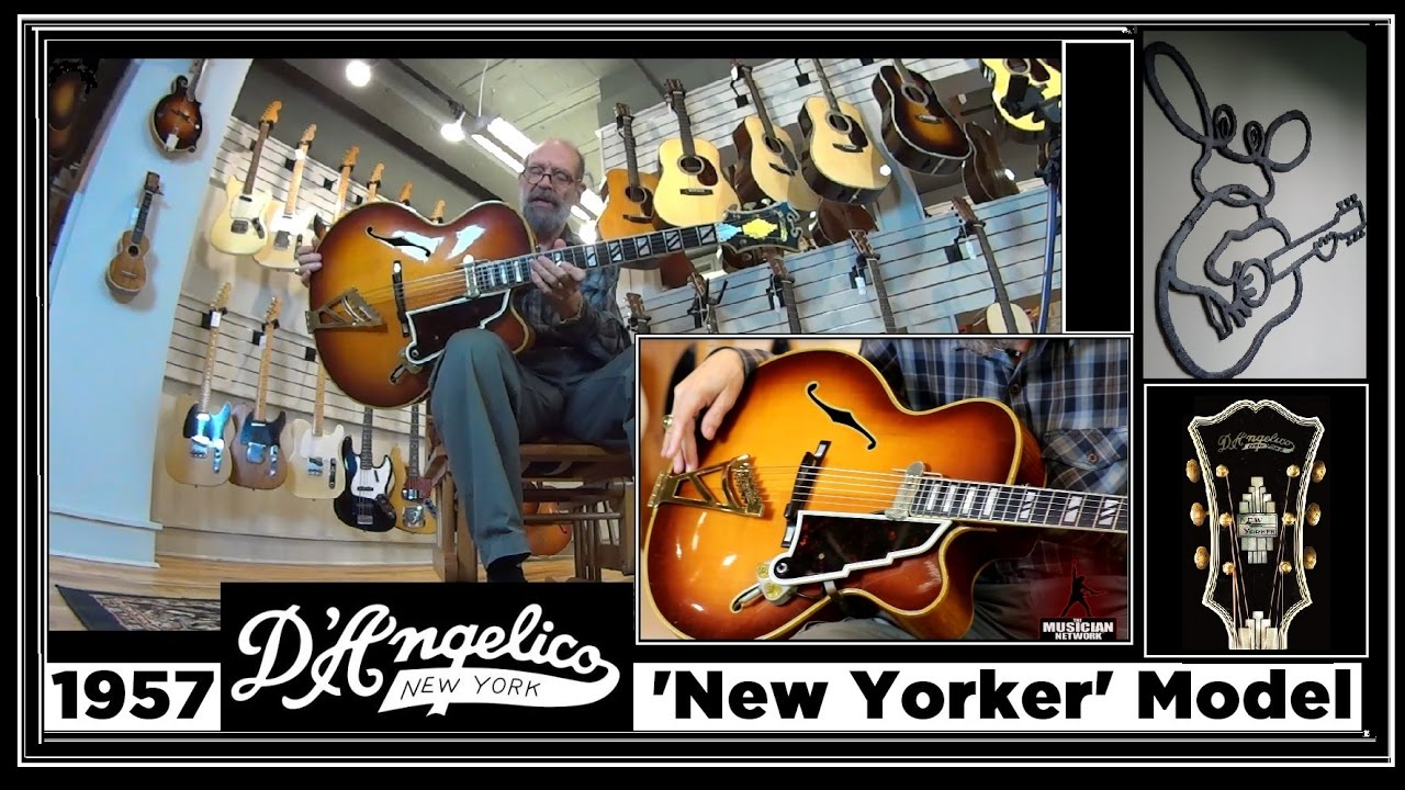 1957 D' Angelico New Yorker Deluxe Archtop Jazz Guitar - THE GEORGE GRUHN ®  GUITAR SHOW (S3)
