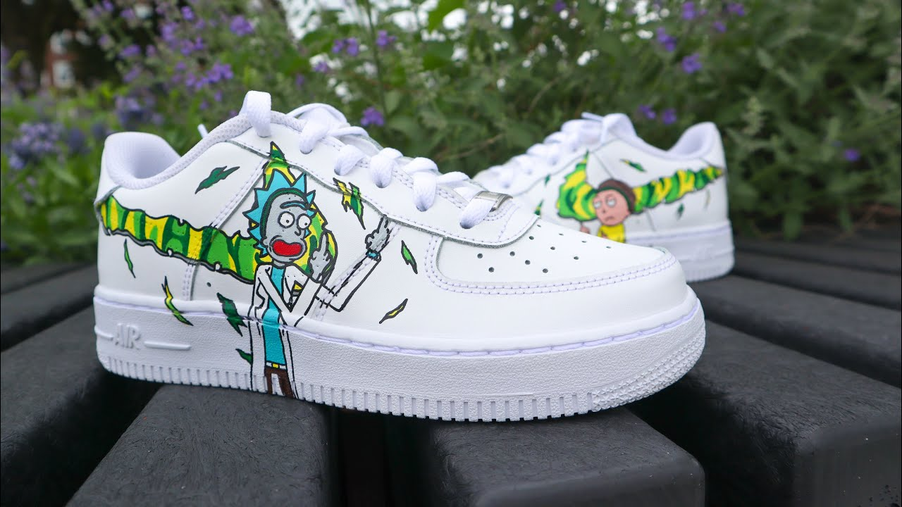 air force 1 rick e morty