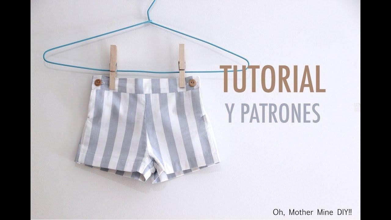 DIY Costura patalón corto para niños (patrones gratis) - YouTube
