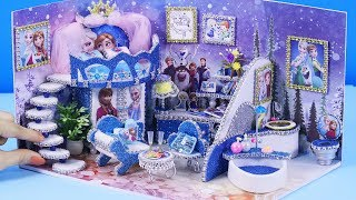 DIY Miniatures Frozen Bedroom and Bathroom #60