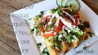 Vegan Potato Taquitos | Sahar Belle  Ep12