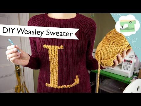 Turn a Muggle Sweater into a Weasley Sweater! | @laurenfairwx