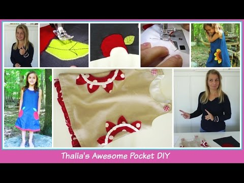 Pockets 101 - Decorative Side Pockets - Thalia's Sunflower Pocket