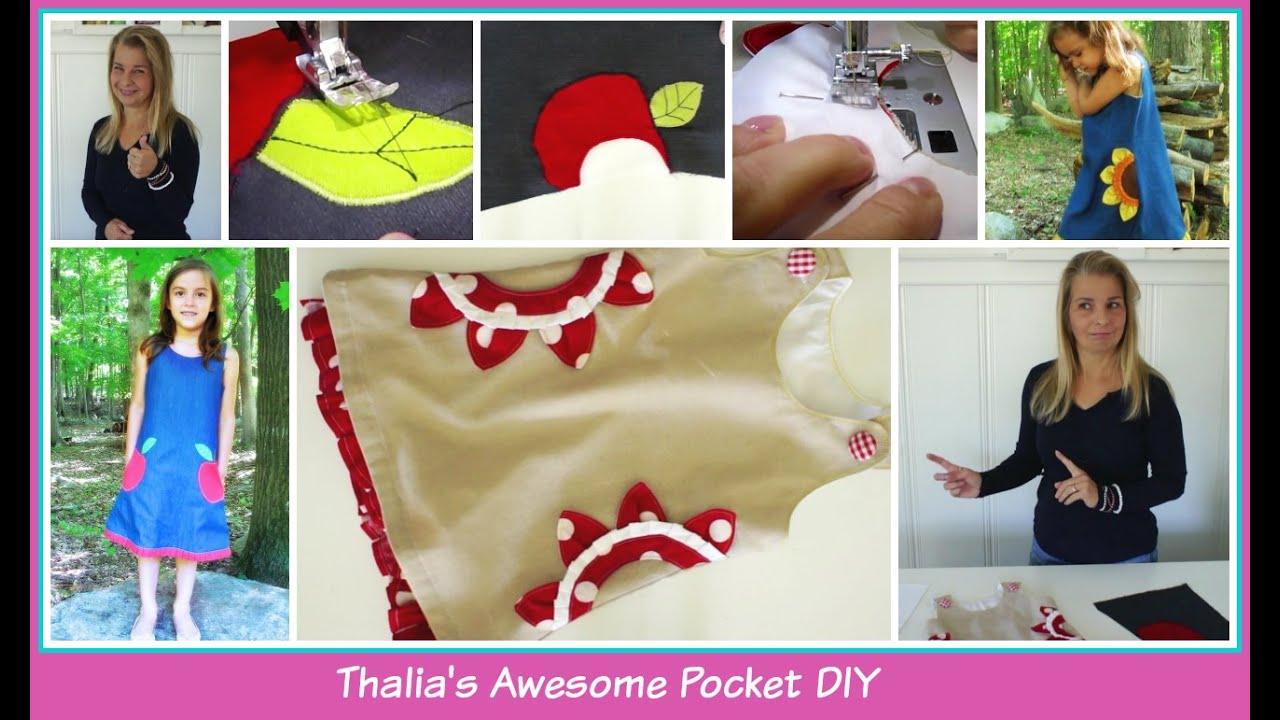 Pockets 101 - Decorative Side Pockets - Thalia\'s Sunflower Pocket ...