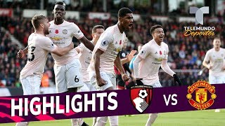 Bournemouth vs. Manchester United: 1-2 Goals & Highlights | Premier League | Telemundo Deportes